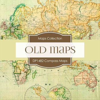 Digital Papers Compass-Maps (DP1482)