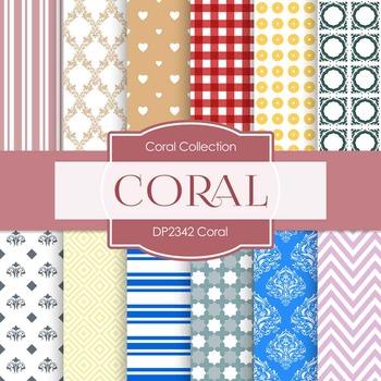 Digital Papers -  Coral (DP2342)