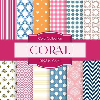 Digital Papers -  Coral (DP2344)