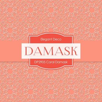 Digital Papers - Coral Damask (DP2905)