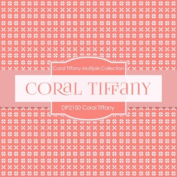 Digital Papers - Coral Tiffany (DP2150)