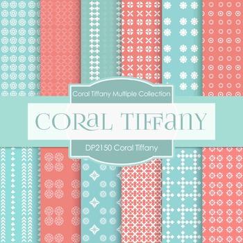 Digital Papers - Coral Tiffany (DP2150)