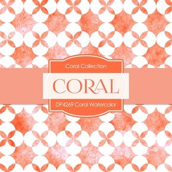 Digital Papers - Coral Watercolor (DP4269)