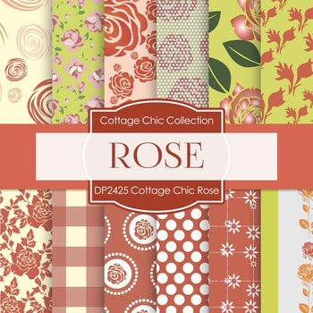 Digital Papers - Cottage Chic Rose (DP2425)