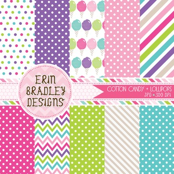 Digital Papers - Cotton Candy
