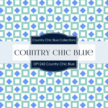 Digital Papers - Country Chic Blue (DP1242)