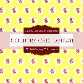 Digital Papers - Country Chic Lemon (DP1240)