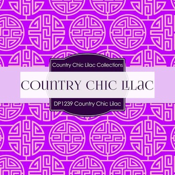 Digital Papers - Country Chic Lilac (DP1239)