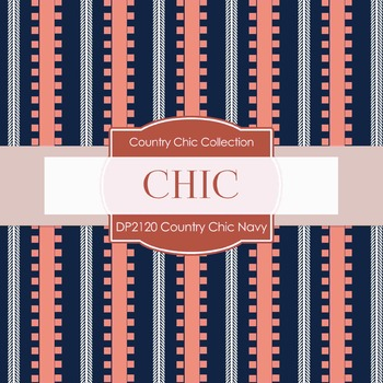 Digital Papers - Country Chic Navy (DP2120)