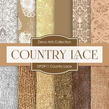Digital Papers - Country Lace (DP2911)