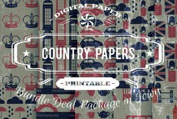 Digital Papers - Country Patterns Bundle Deal