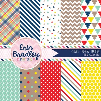 Digital Papers - Craft Collection