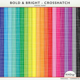 Digital Papers - Crosshatch  - Bold and Bright Collection