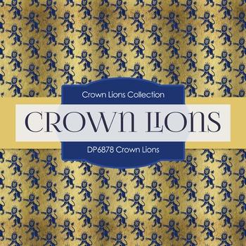 Digital Papers - Crown Lions (DP6878)