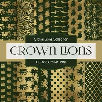 Digital Papers - Crown Lions (DP6883)