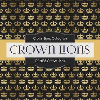 Digital Papers - Crown Lions (DP6885)