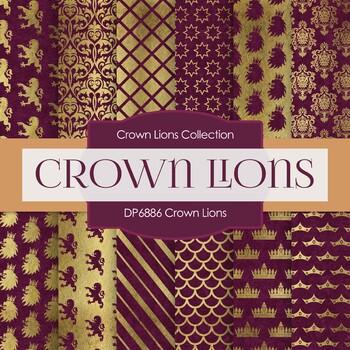 Digital Papers - Crown Lions (DP6886)