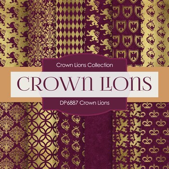 Digital Papers - Crown Lions (DP6887)