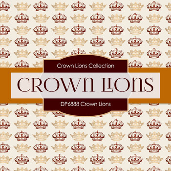 Digital Papers - Crown Lions (DP6888)
