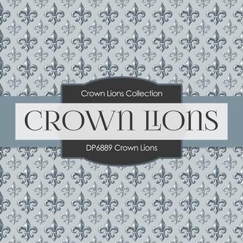 Digital Papers - Crown Lions (DP6889)