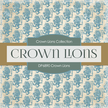 Digital Papers - Crown Lions (DP6890)