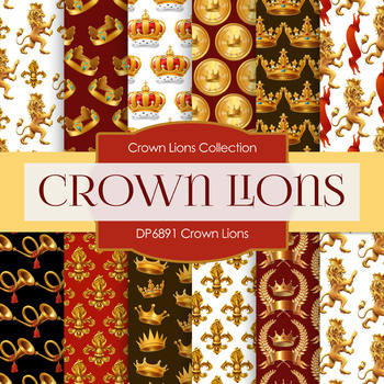 Digital Papers - Crown Lions (DP6891)