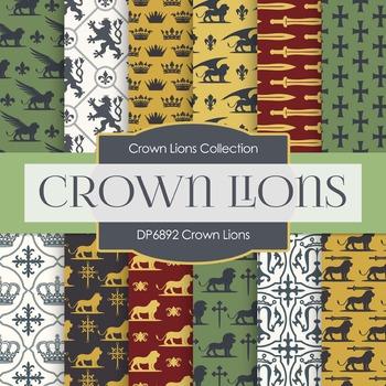Digital Papers - Crown Lions (DP6892)