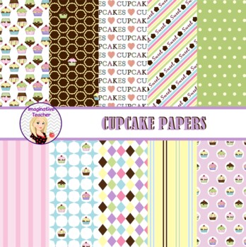 Digital Papers - Cupcakes