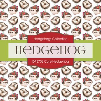 Digital Papers - Cute Hedgehog (DP6703)