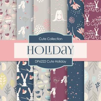 Digital Papers - Cute Holiday (DP6222)