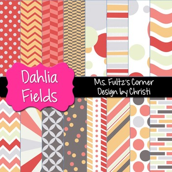Digital Papers: Dahlia Fields