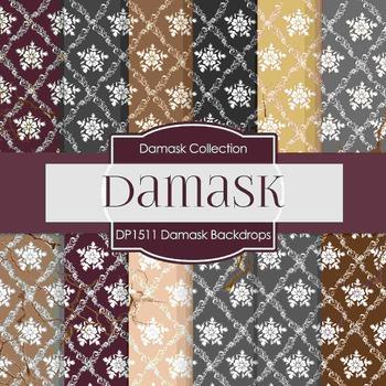 Digital Papers - Damask Backdrops (DP1511)
