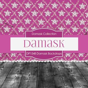 Digital Papers -  Damask Backdrops (DP1548)