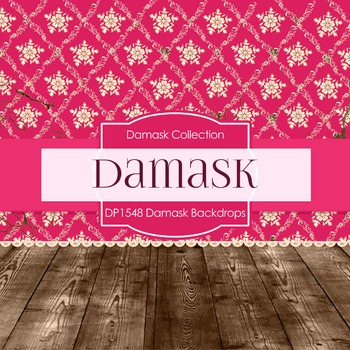Digital Papers -  Damask Backdrops (DP1548)