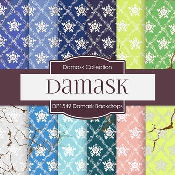 Digital Papers -  Damask Backdrops (DP1549)