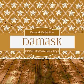Digital Papers -  Damask Backdrops (DP1550)