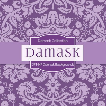 Digital Papers -  Damask Backgrounds (DP1447)