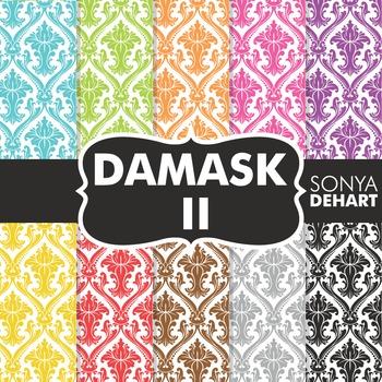 Digital Papers -  Damask II FREEBIE