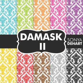 Digital Papers -  Damask II FREEBIE