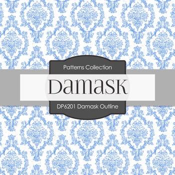 Digital Papers - Damask Outline (DP6201)