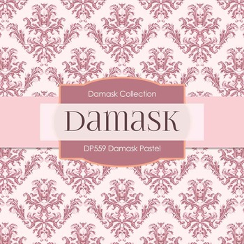 Digital Papers - Damask Pastel (DP559)