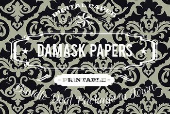 Digital Papers - Damask Patterns Bundle Deal