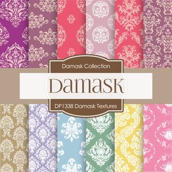 Digital Papers - Damask Textures (DP1338)