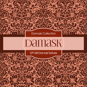 Digital Papers -  Damask Textures (DP1340)