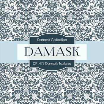 Digital Papers -  Damask Textures (DP1473)