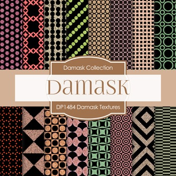 Digital Papers -  Damask Textures (DP1484)