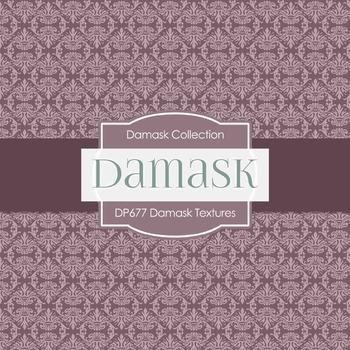 Digital Papers -  Damask Textures (DP677)