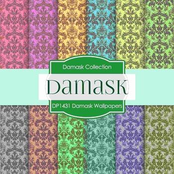 Digital Papers - Damask Wallpapers (DP1431)
