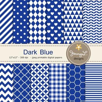 Digital Papers : Dark Blue