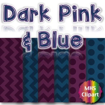 Digital Papers- Dark Pink and Blue